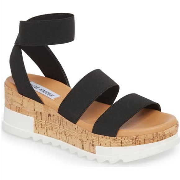 bandi platform wedge sandal white